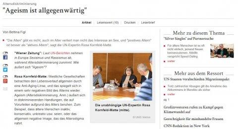 Artikel in Wiener Zeitung